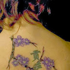 back flowers - Chinese Tattoos