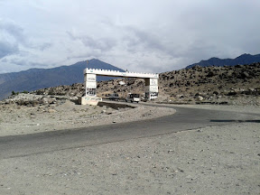 The enterance gate to Chilas city.