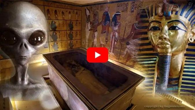 atividade extraterrestre descobertos no túmulo do rei Tutankhamon