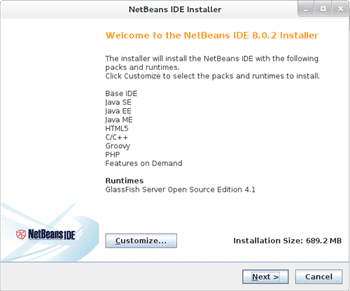 Netbeans graphical installer