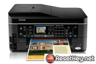 Epson WorkForce 645 Waste Ink Pads Counter Reset Key