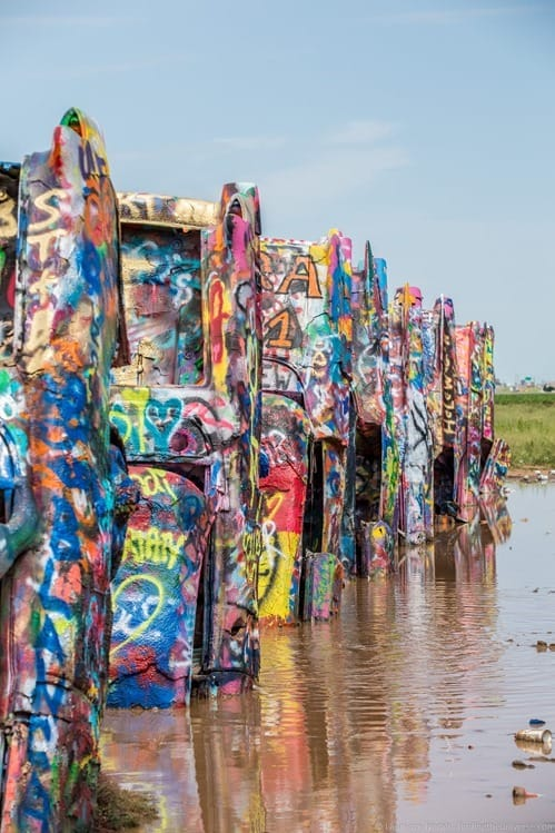 Route 66 Texas Cadillac Ranch near Amarillo