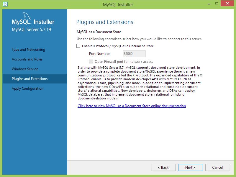 Instalación MySQL server en Windows