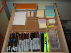 A stationery drawer for quick notes to ourselves, to Martha, to coworkers, and crew (i.e.