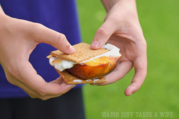 Grilled Peaches for Smores