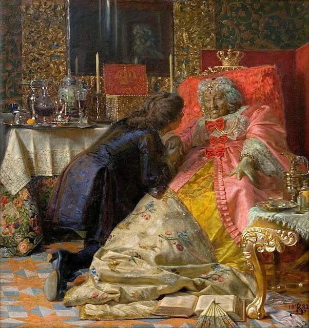 Kristian Zahrtmann - Death of Queen Sophie Amalie - Google Art Project