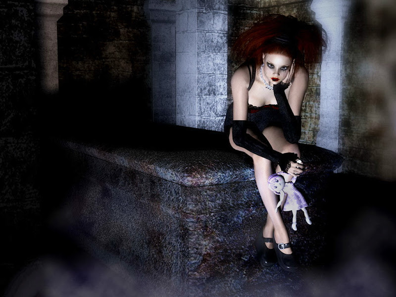 Dark Doll With Goth, Gothic Girls