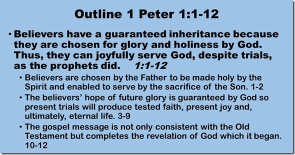 Outline 1 Peter 1.1-12