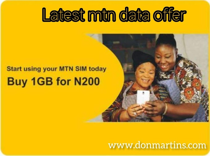 MTN My Data offer: get yours now [mtn ng]