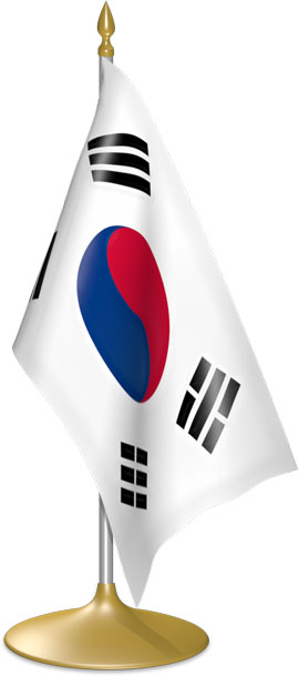 South Korean table flags - desk flags