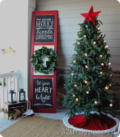 christmas porch tree sign