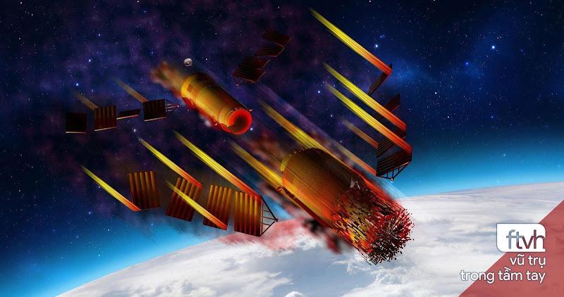 Trạm Không gian Thiên Cung 1 đã rơi xuống bắc Thái Bình Dương