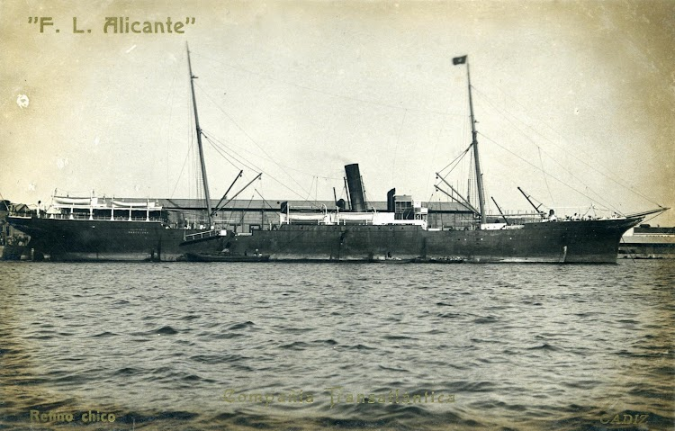 El deposito flotante ALICANTE. Postal. Ca. 1930.JPG