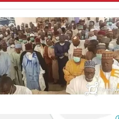 BORNO TODAY:Nigerians Condemn This As Alimodu Sheriff's Father Burial Witnessed Northern's Attendees Without Face Masks