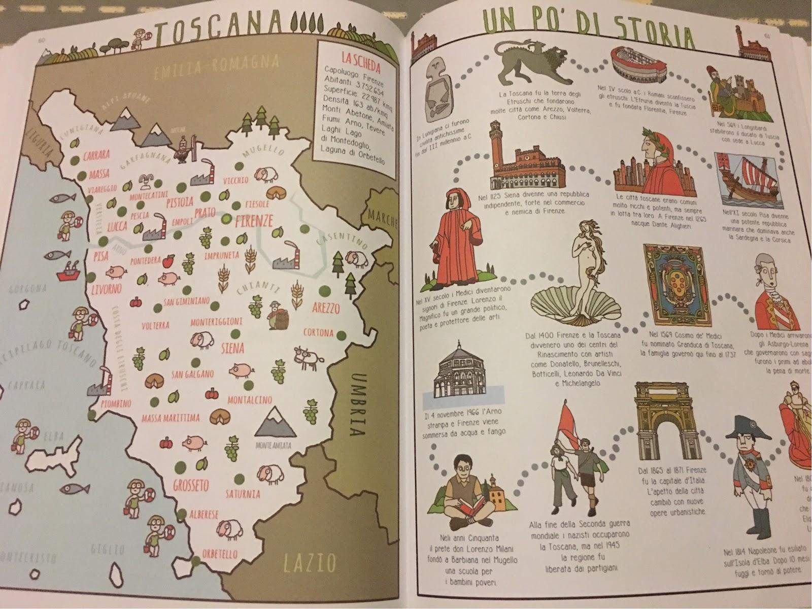 regioni di Italia libro INTERNO PAGINE