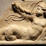 Rome - Fragment de frise décoré d'un triton (marbre, début du 16e siècle)