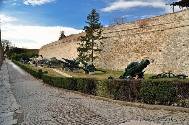 Рядом с военным музеем в Калемегдане