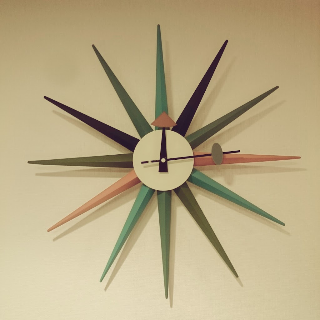 サンバーストクロック-時計-リビング