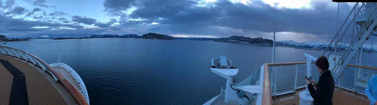 Scenic beauty along the Norwegian coastline aboard the Viking Sky (Source: Palmia Observatory)