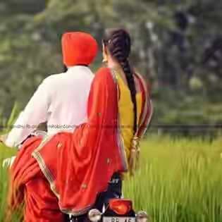 punjabi couple on bullet
