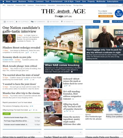 Pic of The Age - 8 Aug 2013
