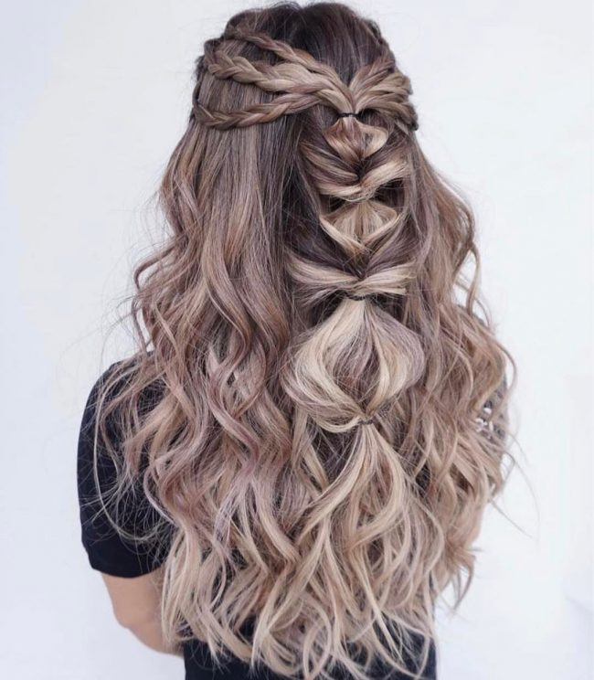 18 Creative And Unique Wedding Hairstyles For Long Hair: Half Up Half Down Hairstyles Great Ideas With Pics