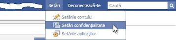 setari confidentialitate facebook