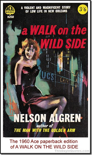 A Walk on the Wild Side, Nelson Algren Ace edition 1960