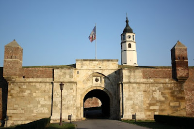 Belgrade fortress walls in Serbia