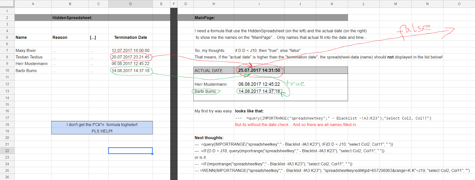 How to combine Query / Importrange / If; then; else? - Google ...