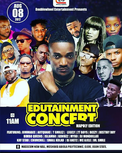 EllyMan Live on State @ Mapoly for Edutainment concert August 8