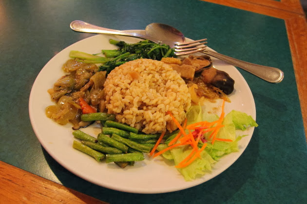 Chinese vegetarian food from Singapore's chinatown