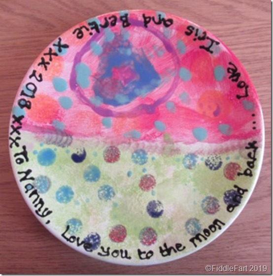child painted plate
