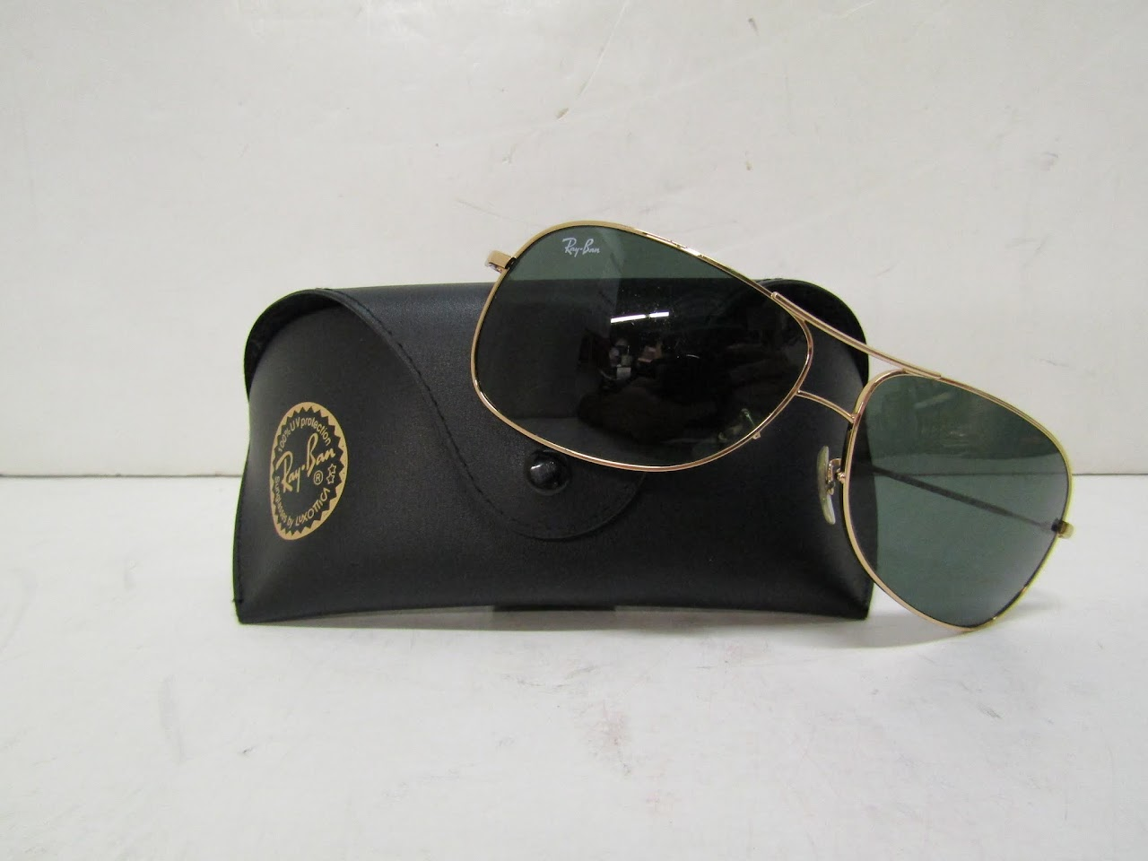 Ray-Ban Gold Framed Sunglasses