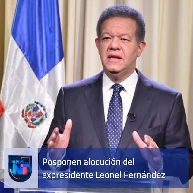 Posponen sin fecha el discurso que pronunciaría esta noche al país el expresidente Leonel Fernández.
