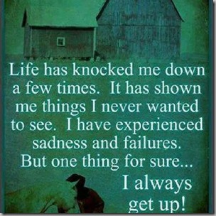 life has knocked me down