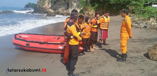Hari ke-2, Regu Gabungan Search and Rescue Unit Cari Korban Tenggelam di Palabuhanratu