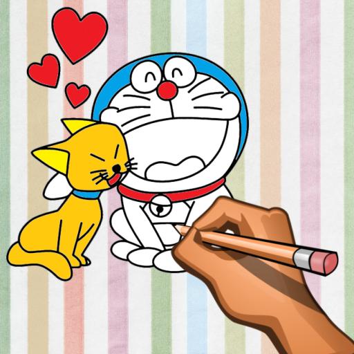 Dorae Cat Coloring Book Games