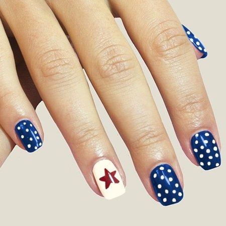 professional nails summer blue design  fashion 2d