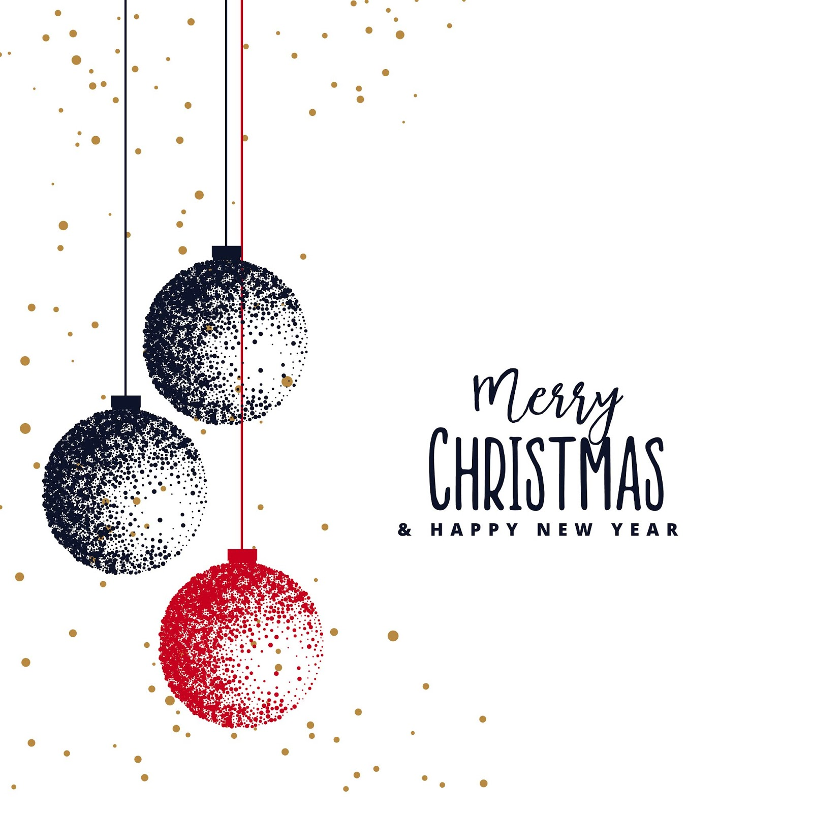 Christmas Balls Made With Stipple White Background Free Download Vector CDR, AI, EPS and PNG Formats