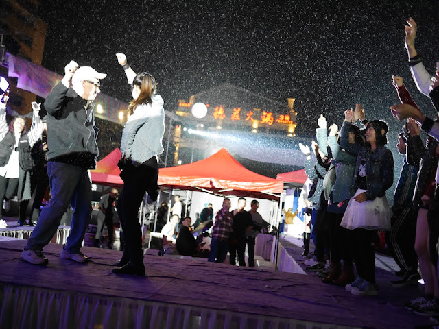 Dancing at the Halloween 2 party in Shaoguan, China