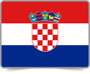 Croatian framed flag icons with box shadow