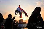 Vendeur de drapeaux aux manifestants de la place Al Tahrir, le Caire