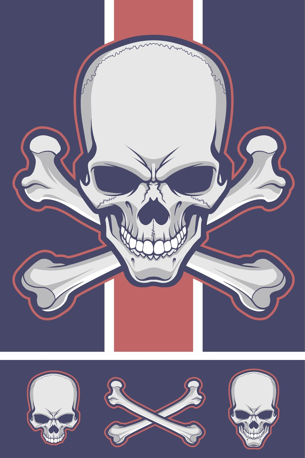 Skull With Crossbones Free Download Vector CDR, AI, EPS and PNG Formats