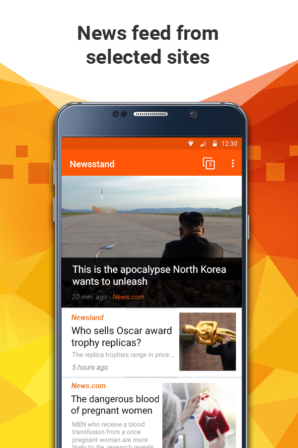 All news in one app, Newsstand- screenshot