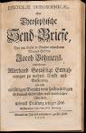 Epistolae Theosophicae Oder Theosophische Send Briefe (1730,in German)