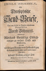 Epistolae Theosophicae Oder Theosophische Send Briefe (1730,in German)