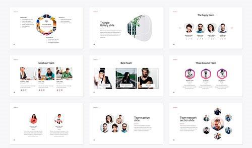 Algunas de las diapositivas de la plantilla, muestra 3