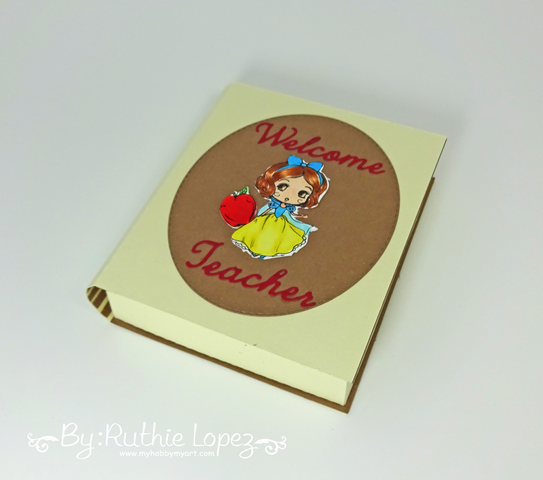 3d Book Box - SnapDragon Snippets - Star Stamps - Ruthie Lopez - Back to School 3