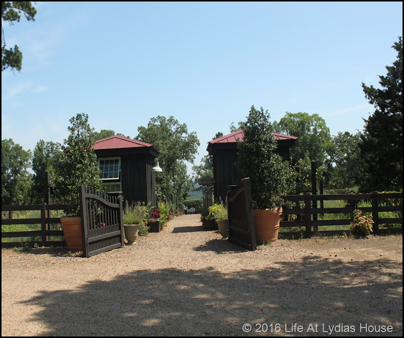 vegetable garden gated entry
